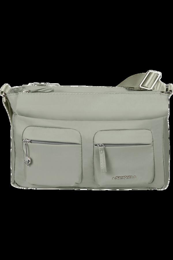 Samsonite Move 3.0 Horizontal Shoulder Bag + Flap  Grey Sage