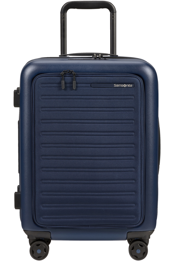 Samsonite Stackd Spinner Expandable Easy Access 55cm  Bleu Marine