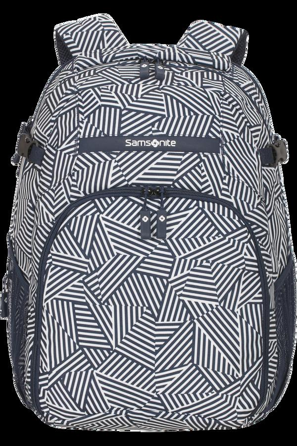Samsonite Rewind Laptop Backpack L Expandable  Navy Blue Stripes